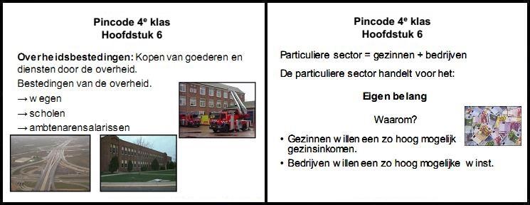 pincode economie 4e klas mavo vmbo aantekeningen samenvatting oefenen overheidsbestedingen particuliere sector eigen belang